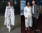 Lupita Nyongo'o In MSGM - Variety 'Black Panther' Screening