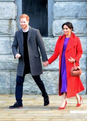Fashion Blogger Catherine Kallon features Meghan, Duchess of Sussex In Sentaler & Babaton by Artizia - Birkenhead Visit