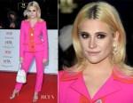 Fashion Blogger Catherine Kallon features Pixie Lott In Miu Miu - National Television Awards 2019