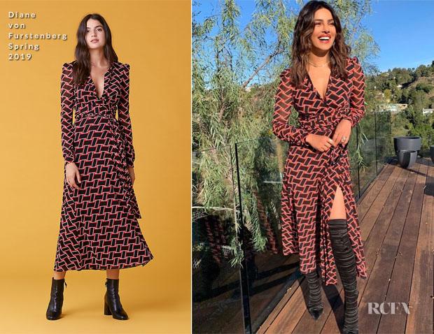 Fashion Blogger Catherine Kallon features Priyanka Chopra In Diane von Furstenberg - YouTube HQ