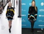Fashion Blogger Catherine Kallon features Riley Keough In Louis Vuitton - 'The Lodge' Sundance Film Festival Premiere
