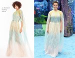 Fashion Blogger Catherine Kallon features America Ferrera In J. Mendel - 'How To Train Your Dragon: The Hidden World' LA Premiere