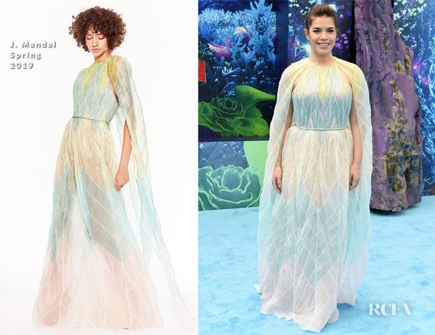 Fashion Blogger Catherine Kallon features America Ferrera In J. Mendel - 'How To Train Your Dragon: The Hidden World' LA Premiere