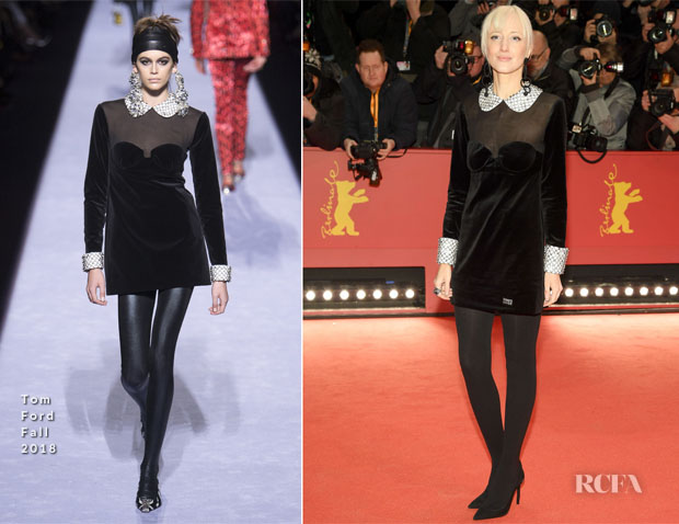 Fashion Blogger Catherine Kallon Features Andrea Riseborough In Tom Ford - 'The Kindness Of Strangers' Berlinale Film Festival Premiere