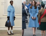 Catherine Duchess of Cambridge In Mulberry & Jenny Packham - Cinemagic Visit