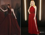 Fashion Blogger Catherine Kallon features Ellie Bamber in Elie Saab - dunhill Pre-BAFTA Dinner