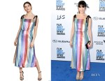 Katie Aselton's RIXO London Tessa Striped Sequin Dress