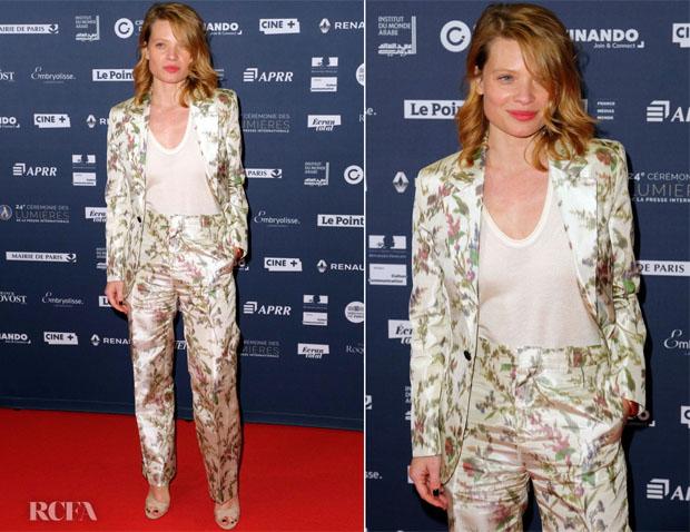 Melanie Thierry In Christian Dior & Chloe - 24th Lumieres De La Presse Internationale & 14th Globe De Cristal Ceremony