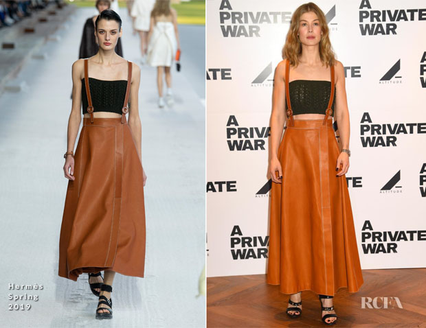 Fashion Blogger Catherine Kallon features Rosamund Pike In Hermès - 'A Private War' London Screening