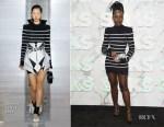 Fashion Blogger Catherine Kallon Features Saks Celebrates New Main Floor With Lupita Nyong'o In Balmain