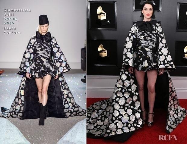 Fashion Blogger Catherine Kallon features St. Vincent In Giambattista Valli Haute Couture - 2019 Grammy Awards