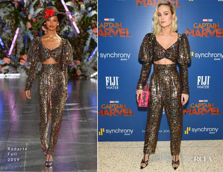 Brie Larson In Rodarte - 'Captain Marvel' New York Screening