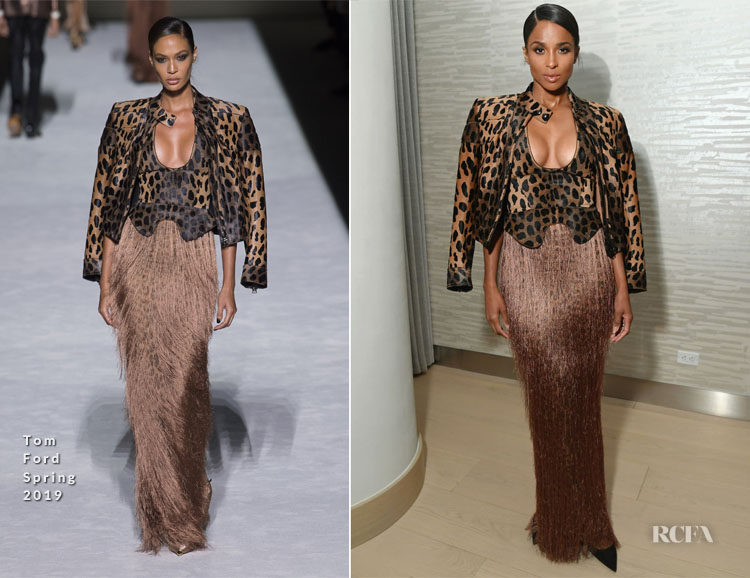 Ciara In Tom Ford - InStyle Cover Party Dinner