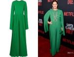 Drew Barrymore's SemSem Pleated Green Jumpsuit