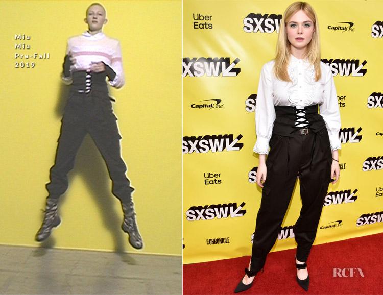 Elle Fanning In Miu Miu -  'Teen Spirit' SXSW Premiere