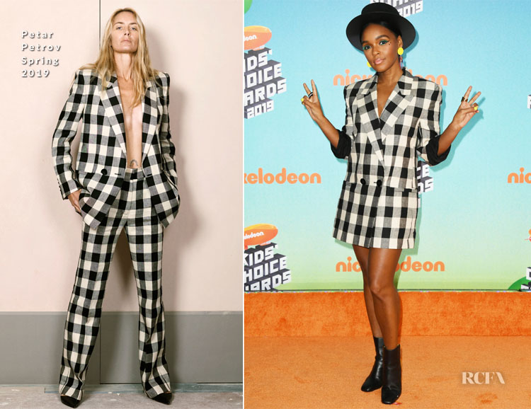 Janelle Monae In Petar Petrov - Nickelodeon's 2019 Kids' Choice Awards