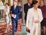 Meghan, Duchess of Sussex In Amanda Wakeley - The 50th Anniversary Of The Investiture Of The Prince of Wales