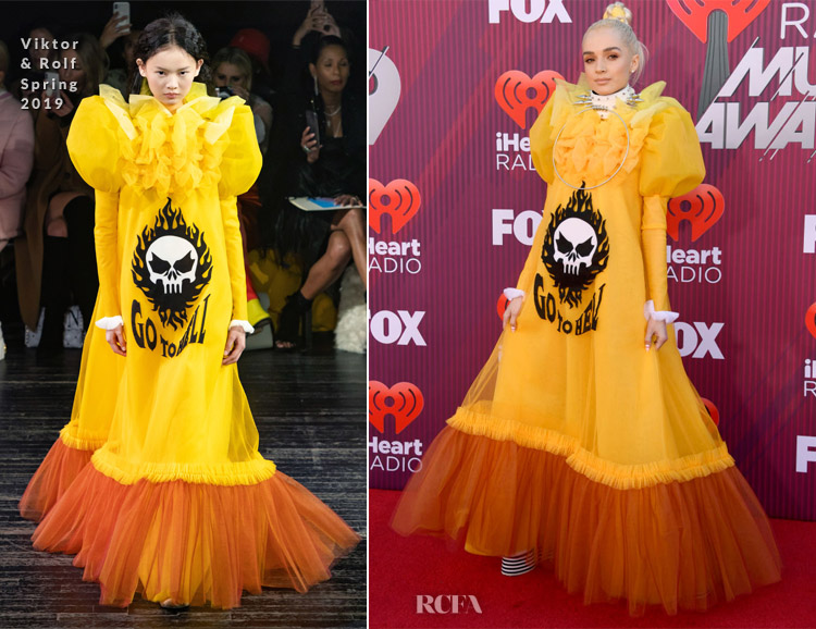 Poppy In Viktor & Rolf Haute Couture - 2019 iHeartRadio Music Awards