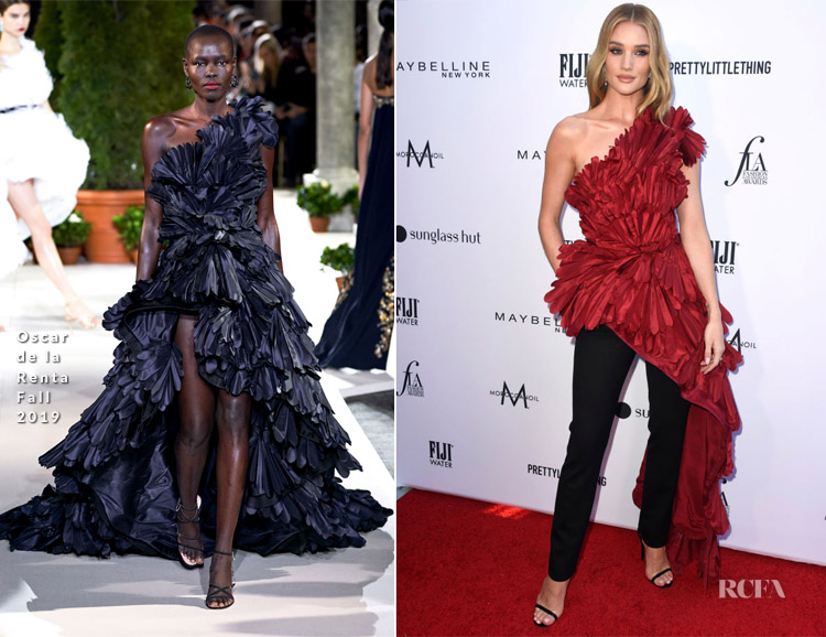 Rosie Huntington-Whiteley In Oscar de la Renta - The Daily Front Row's 5th Annual Fashion Los Angeles Awards