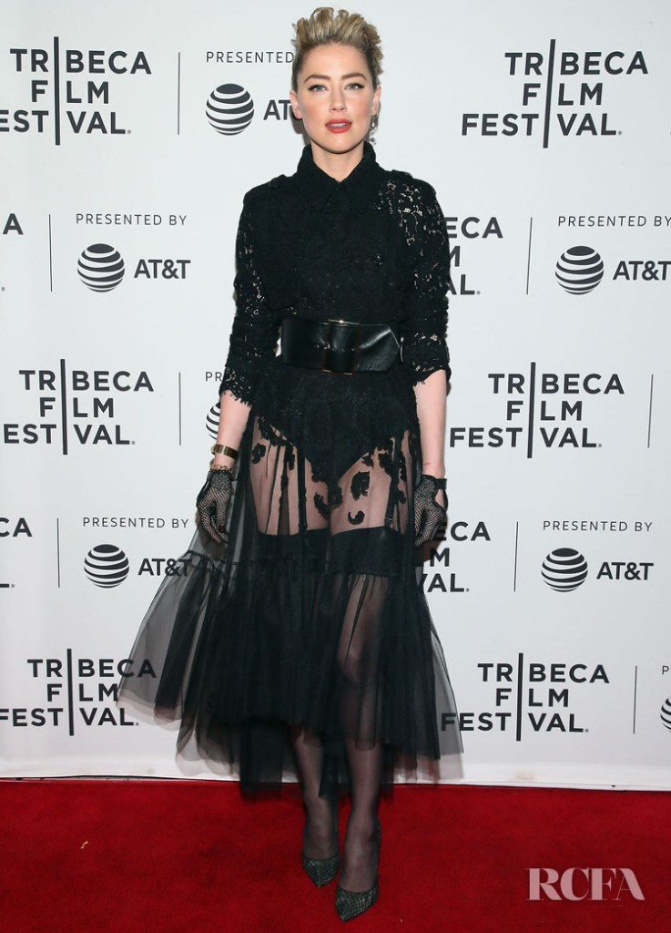 Amber Heard In Claes Iversen Couture - 'Gully' Tribeca Film Festival