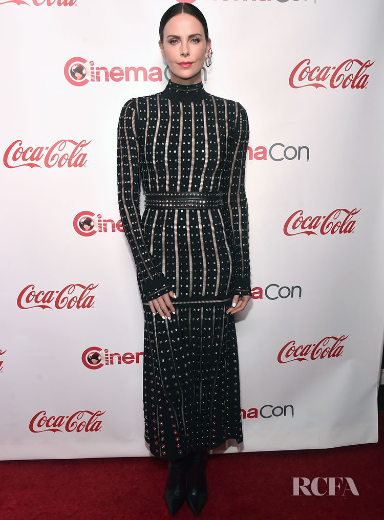 Charlize Theron In Alexander McQueen - 2019 CinemaCon Presents The 2019 Big Screen Achievement Awards