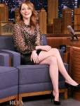Emma Stone Walks On The Wild Side For The Tonight Show Starring Jimmy Fallon