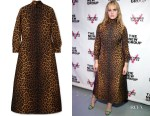 Hari Nef's Gucci Leopard Print Dress