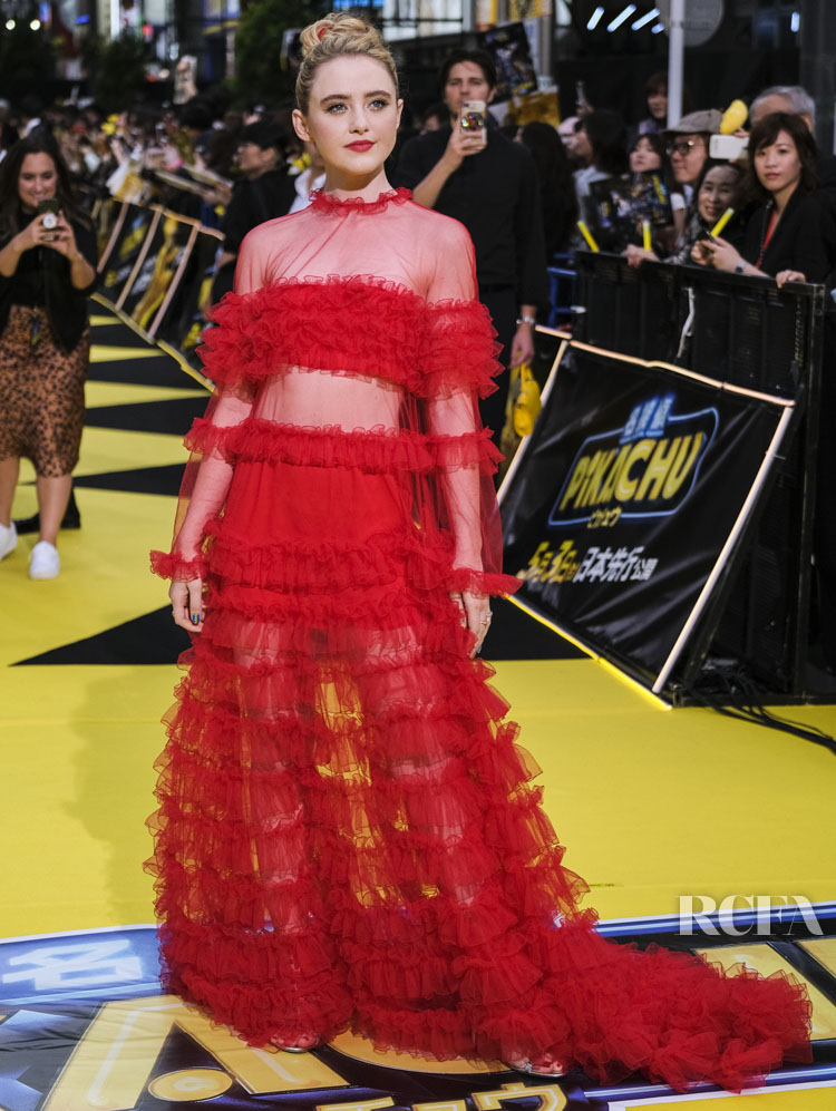 Kathryn Newton Was Vibrant In Valentino Red For The 'Pokemon Detective Pikachu' Tokyo Premiere