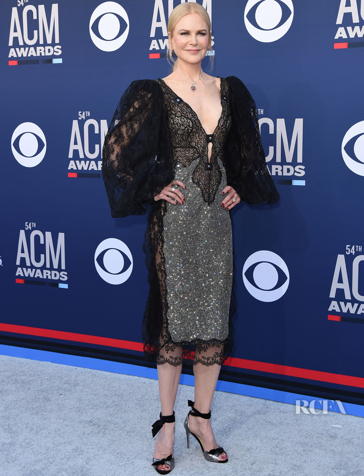 Nicole Kidman In Christopher Kane - ACM Awards 2019