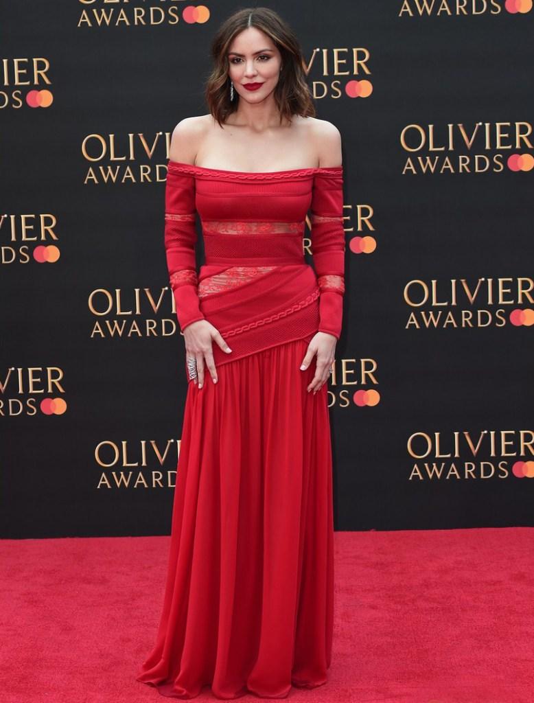 Katharine McPhee in Elie Saab - 2019 Laurence Olivier Awards