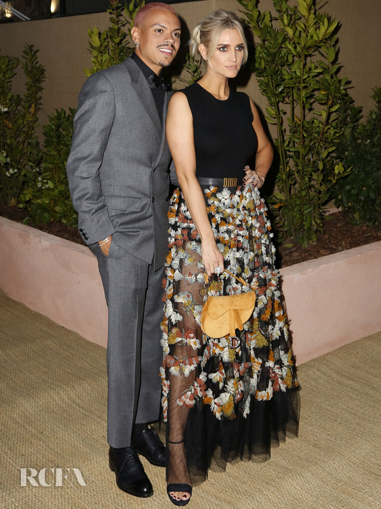 Ashlee Simpson (R) and Evan Ross attend the Dior And Vogue Paris dinner