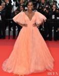 Aja Naomi King In Zac Posen - 'A Hidden Life' Cannes Film Festival Premiere