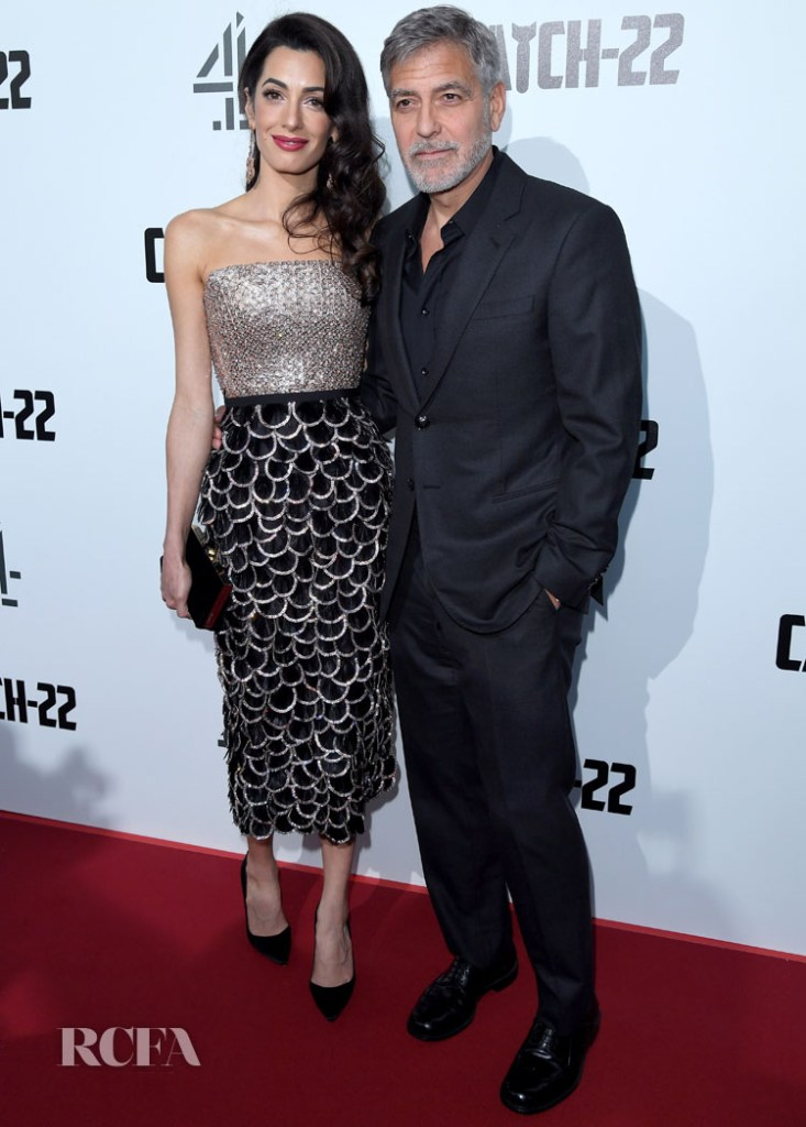 Amal Clooney In Ralph & Russo Couture - 'Catch-22' London Premiere