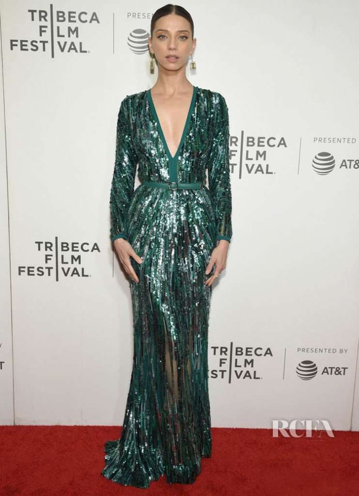 Angela Sarafyan In Elie Saab 'Extremely Wicked, Shockingly Evil And Vile' Tribeca Premiere