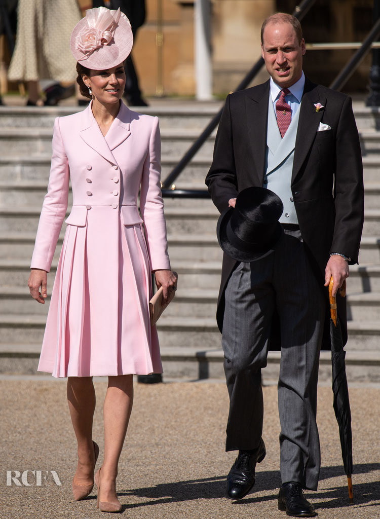 Catherine, Duchess of Cambridge Is Pretty In Pink at the Queen's Garden Party
