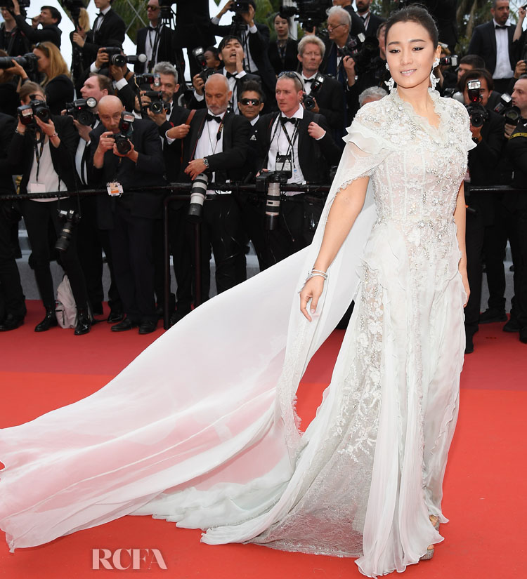 Gong Li In Ralph & Russo Couture - 'The Dead Don't Die' Cannes Film Festival Premiere & Opening Ceremony