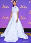 Naomi Scott Rocks A Modern Ball Gown For The 'Aladdin' Paris Screening