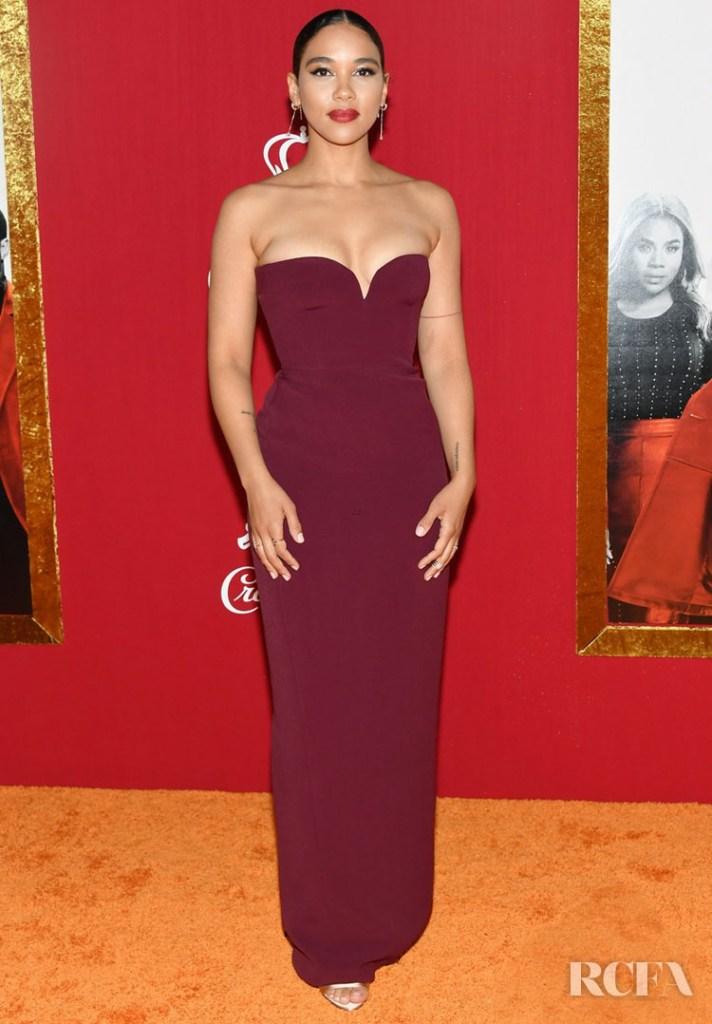 Alexandra Shipp in Prada -  'Shaft' New York Premiere