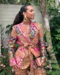 Alicia Keys' Petal Power Suit