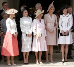 Catherine, Duchess of Cambridge Greets Royals For The Order Of The Garter Service At Windsor Castle