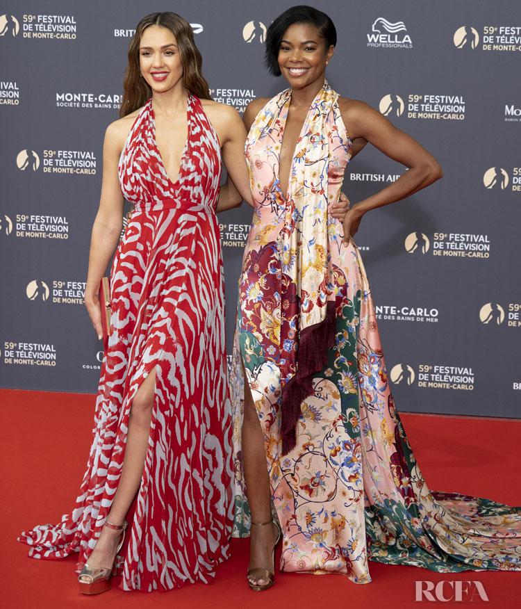 Jessica Alba & Gabrielle Union Grace The Monte Carlo TV Festival Opening Ceremony