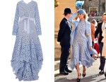 Poppy Delevingne's Oscar de la Renta Asymmetric Gown