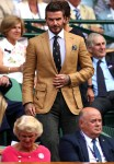 David Beckham Brings His  Handsome Style To The Royal Box At Wimbledon