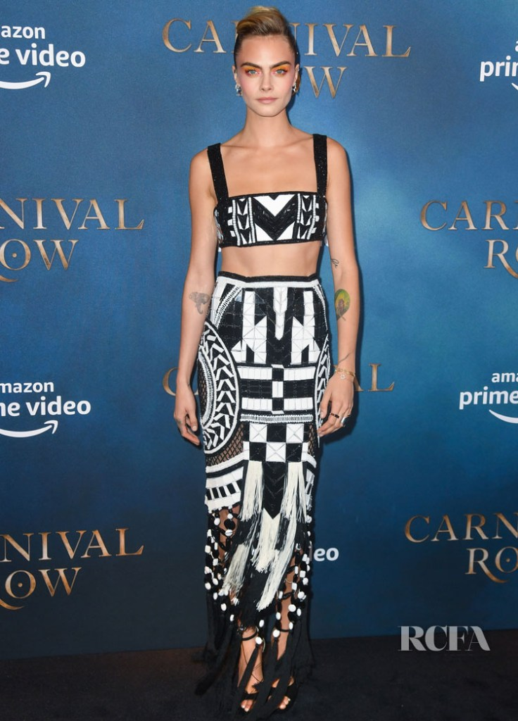 Cara Delevingne  In Balmain - 'Carnival Row' London Screening