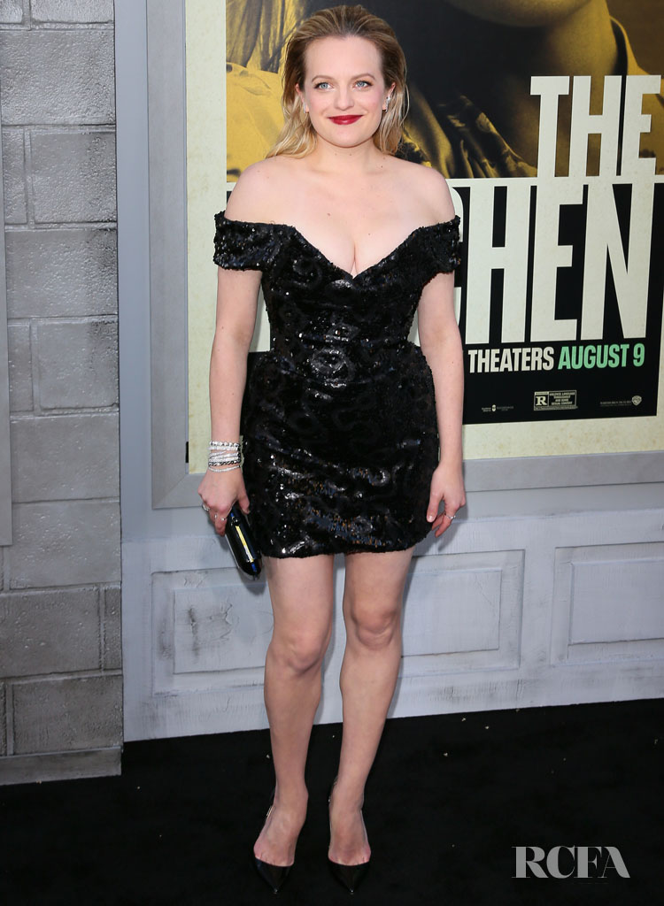 Elisabeth Moss' LB-Vivienne Westwood Couture-D For 'The Kitchen' LA Premiere