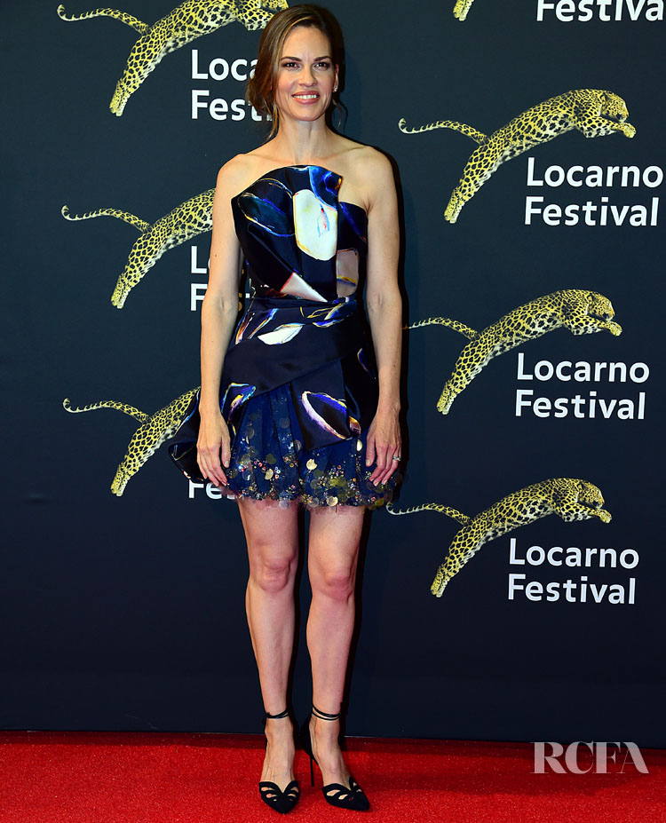 Hilary Swank Haute Couture Moment For The Locarno Film Festival