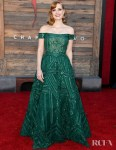 Jessica Chastain Was A Green Goddess For The LA Premiere For 'It Chapter Two'