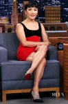 Constance Wu's Red & Black Mini For The Tonight Show Starring Jimmy Fallon