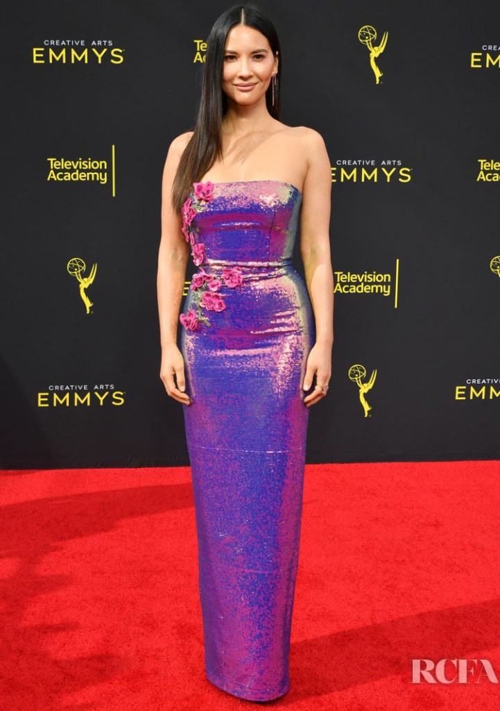 Olivia Munn In Monique Lhuillier - 2019 Creative Arts Emmy Awards