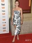 Scarlett Johansson In Oscar de la Renta & Rodarte - 'Marriage Story' & 'Jojo Rabbit' Toronto Film Festival Premieres